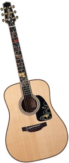 A piece of art - Takamine acoustic guitar with various colors on the fretboard… Esp Guitars, Rare Guitars, Unique Guitars, Vintage Guitars, Acoustic Guitars, Guitar Pins, Music Guitar, Cool Guitar, Playing Guitar