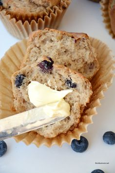 banana blueberry muffins from MichaelsMakers The Idea Room