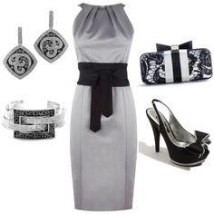 For our 25th Anniversary! Silver Dress + Accessories. I <3 Beautiful Outfits, Cool Outfits, Dress Outfits, Dresses, Cool Style, Style Me, Look, Love Fashion, Passion For Fashion