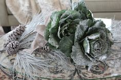 Romancing the Home - love the iced cabbages!