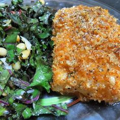 """""""Today is all about crusted @sizzlefishfit and kale! @omgheebutter crusted a piece of our delicious @sizzlefishfit Cod in pork dust and @flavorgod spicy seasoning and then baked it until fork tender! They served it with a side of fresh kale salad for a simple yet flavorful dinner!  --------------------------------------- ‼️You can purchase our perfectly portioned fish by heading to the website: www.sizzlefish.com‼️ --------------------------------------- @sizzlefishfit #omegas #poweredbyfish…"""
