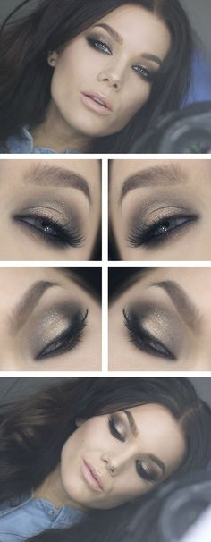 a more subtle smokey eye