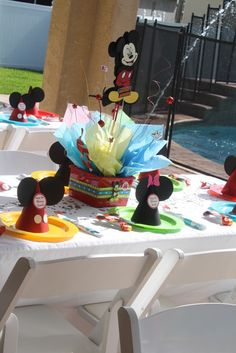 Mickey Mouse Birthday centerpiece