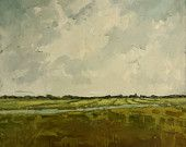 "Original Landscape Oil Painting | Rural Farmland Painting | Holland Painting | Haarlem | 24"" x 24"""