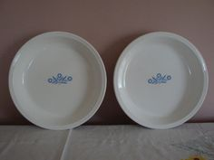 Two 2 Vintage 9 Corning Ware  Cornflower Blue   by JingleBeanFarm