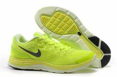 low priced 06cf8 96ea6 New Nike Lunarglide 4 Mens Volt Barely Volt Black 524977 304