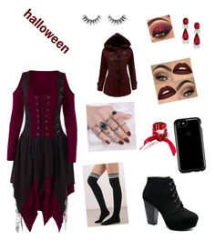 """halloween dresess"" by wednesday-morning ❤ liked on Polyvore featuring Tobi, Speck, WithChic, Velour Lashes and 3 AM Imports"