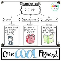 """One Cool Friend One Cool Friend,Tips for Teaching Reading to Upper Elementary Students Teach character traits with """"One Cool Friend."""" Related Free Social Emotional Learning Resources - EducationLEGO Storage Ideas To Keep Your. Reading Lessons, Reading Strategies, Reading Skills, Reading Comprehension, Reading Charts, Reading Centers, Teaching Writing, Student Teaching, Teaching Ideas"""
