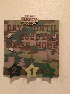 DYI ARMY deployment/field training countdown  Changeable hanging stars