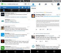 Twitter prueba el Material Design para móvil
