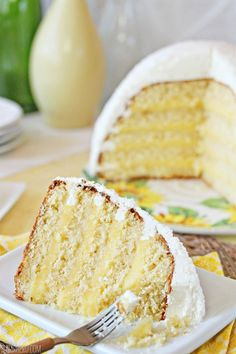 Lemon Coconut Snowball Cake - coconut cake, lemon curd, and coconut buttercream, all in a cute snowball shape! Lemon Coconut, Coconut Recipes, Lemon Recipes, Baking Recipes, Lemon Curd, Coconut Cakes, Delicious Cake Recipes, Yummy Cakes, Dessert Recipes