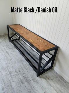 Shoe Storage Bench- Entryway Organizer- Storage Be Shoe Storage Bench Entryway, Entry Bench, Entryway Organization, Entryway Bench Modern, Entryway Ideas, Reclaimed Wood Benches, Rustic Bench, Diy Bench, Industrial Bench