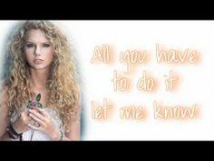flirting signs he likes you lyrics taylor swift song youtube