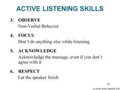 Reflection paper on effective listening skills