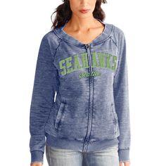 Seattle Seahawks Touch by Alyssa Milano Women's Ballhawk Full Zip Sweatshirt – Navy Blue