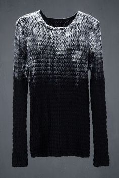 Open Stained Sweater 1