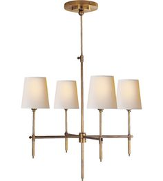 Visual Comfort Thomas OBrien Bryant 4 Light Chandelier in Bronze with Wax TOB5002BZ-NP | Visual Comfort Lighting Lights | Visual Comfort | V...
