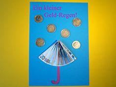 Geldgeschenk - Geldregen
