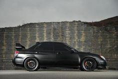Matte Black Subaru WRX STI #sexonwheels