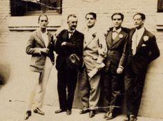 Dalí, José Moreno Villa, Buñuel, Lorca y José Antonio Rubio, en Madrid en mayo de 1926.