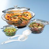 Found it at Wayfair - 3-Piece Glass Round Casserole Set