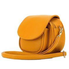 Jollychic Women's Street Solid Mini Shoulder Bag Yellow