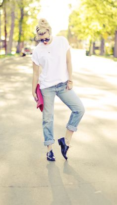Jeans & a White T Outfit No. 4  ~ Grunge Factor Seven