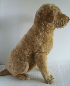 "RARE antique STEIFF Irish Terrier dog with FF button, c.1918, 13"" / teddy bear (price realized $580)"