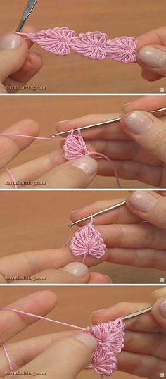 Hearts Cord Crochet Pattern