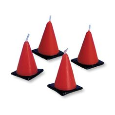 Construction Cones Cake Candles (6)