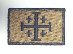 Tradional Jerusalem Cross Morale Patch