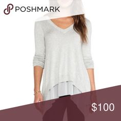 Central Park West Sweater Rye V neck sweater....Never wore, bought from Revolve clothing online full retail ... Revolve Sweaters V-Necks