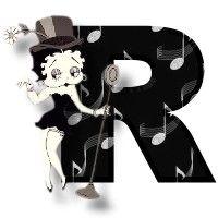 Betty boop black 2 alphabets