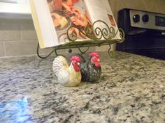 My Chicken salt and pepper shakers from Pier 1 LOVE!!