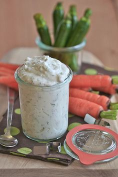 Yogurt Dip with Dill and Feta   Serve the dip with fresh carrots, cucumbers, baby zucchini, bell peppers, or crackers.    Time: 10 minutes active time  Makes: About 1 cup    7 ounces full-fat Greek-style yogurt  1/4 cup crumbled feta cheese  2 tablespoons chopped fresh dill  Juice of 1/2 large lemon  Salt and freshly ground pepper