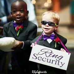 Page boys:) too cute