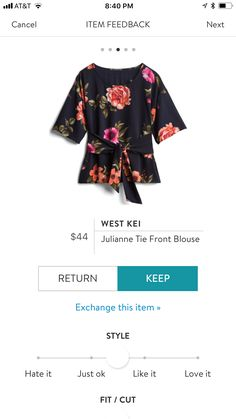 West Kei Julianne Tie Front Blouse would go with cardigans and the tie would give me some shape! Stitchfix Reviews, Black Women Fashion, Womens Fashion, Petite Fashion, Curvy Fashion, Fall Fashion, Stitch Fix Fall, Stitch Fit, Tie Front Blouse