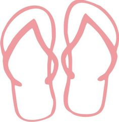 Pink Flip Flops Decal 5x5 by anchorofthesoul on Etsy, $4.95