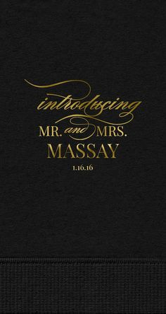 Introducing Mr and Mrs Guest Towels, Personalized 3-Ply Introducing Mr and Mrs Guest Towels