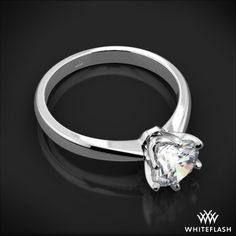 Contemporary Classic Solitaire Engagement Ring 6