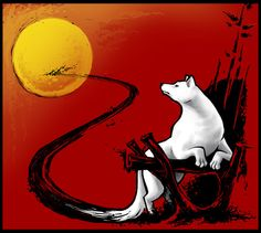 Okami - We Who Cannot See Amaterasu in white wolf form, as the world sees her.