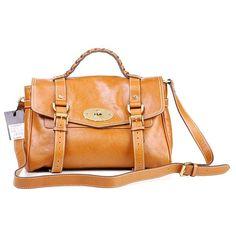 Mulberry Standard Alexa Leather Satchel Bag Camel
