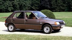 1984 Peugeot 205 GT. Introduced into the range at launch