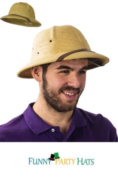 • This Traditional Pith Helmet is Perfect for Those Hot Summer Days • This Hat can Be Worn Every Day for Gardening or Hiking in the Great Outdoors. This Durable Straw Hat is the Ultimate Classic Sunhat • Take this Pith Helmet Along as You Tour India or go on a Sub-Saharan Safari • You Can Wear This Hat as a Costume for a Tropical British Soldier or Diplomat. It is also Customary for a Philippine Solider Superhero Birthday Party, Birthday Party Themes, Cool Costumes, Party Costumes, Diy Party Hats, Pith Helmet, Party Favors For Adults, Hat Crafts, Holiday Costumes