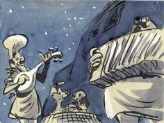 """""""Lady and the Tramp"""" story art by Joe Rinaldi."""