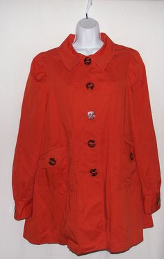 NWOT Elevenses orange coat size 12 #Elevenses #BasicCoat