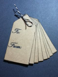Kraft To/From Gift Tags by VintagePaperBits on Etsy, $4.50