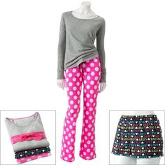 SO® 3-pc. Printed Pajama Gift Set - Juniors' ($20) ❤ liked on Polyvore