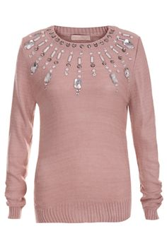 Diamond Nude Pink Jumper