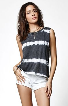 Hooked on Time Wasted Tie-Dye Muscle Tank Top that I found on the PacSun App